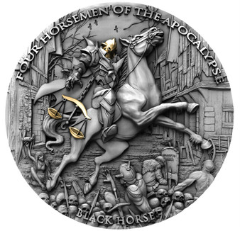 BLACK HORSE Four Horsemen Of The Apocalypse 2 oz Silver Coin 5$ Niue 2020