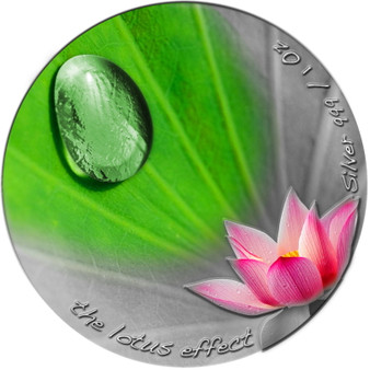 Raindrops Lotuseffect XXL Relief Silver Coin Niue 2020