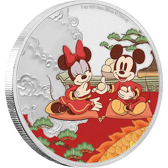 GOOD FORTUNE Year of the Mouse Disney 1 Oz Silver Coin Niue 2020
