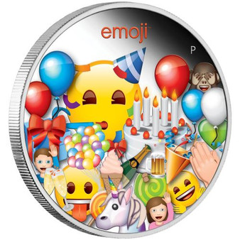 EMOJI™ Celebration 1 oz Silver Proof Coin Tuvalu 2020