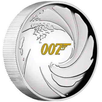 JAMES BOND 007™ - 1 oz High Relief Silver Proof Coin Tuvalu 2020