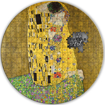 THE KISS by Gustav Klimt Puzzle Art 3 oz   Silver Coin 2$ Niue 2020