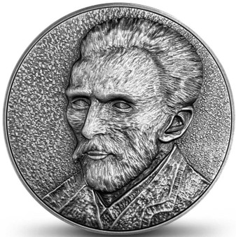 THE VINCENT VAN GOGH Series – Self Portrait 2 oz Silver Coin Niue 2020