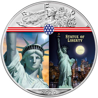 STATUE OF LIBERTY Landmarks USA 1 oz Silver Coin 2020 USA