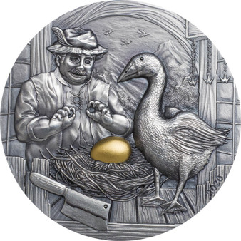 The Goose that Laid the Golden Eggs 2 oz Silver Coin Palau 2020