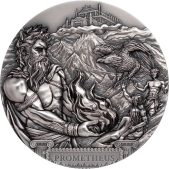 TITAN PROMETHIUS 3 Oz Silver Ultra high relief Coin Cook Islands 2020