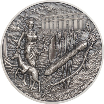 ARTEMIS - BOW & ARROW Silver Piedfort Coin Cook Islands 2020