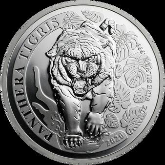 TIGER - PANTHERA TIGRIS - 1 oz Silver coin 500 KIP Laos 2020