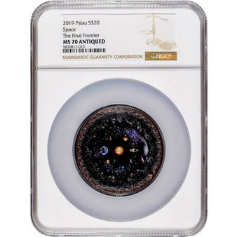 NGC MS70 graded UNIVERSE Space Final Frontier 3 oz Silver Coin Palau 2019