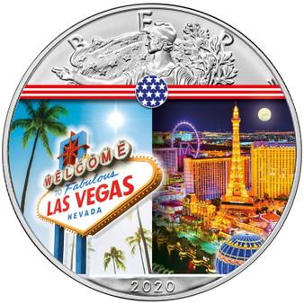 LAS VEGAS Landmarks USA 1 oz Silver Coin 2020 USA