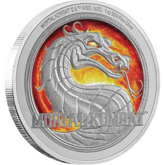 MORTAL KOMBAT Game 1 Oz Silver Coin 2$ Niue 2020