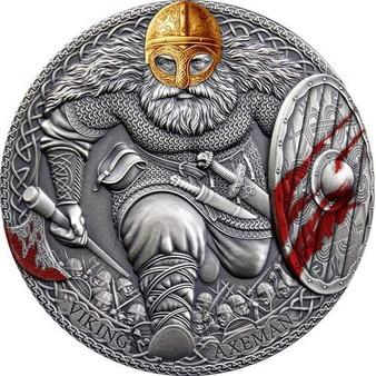 VIKING AXEMAN 3 oz Silver Coin 3000 Francs CFA Cameroon 2020