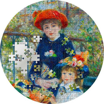 TWO SISTERS On The Terrace Renoir Micropuzzle Treasures 3 oz Silver Coin 20$ Palau 2020