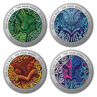 The Four Winds Silver Proof Coin Set $4 New Zealand 2020