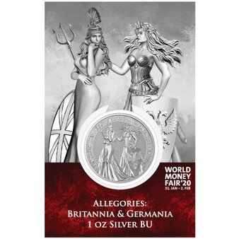 BRITANNIA & GERMANIA – The Allegories 1oz Silver World Money Fair 2020 blister