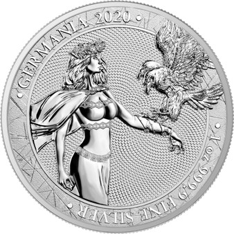 GERMANIA 1 oz Pure Silver Coin 5 Mark 2020