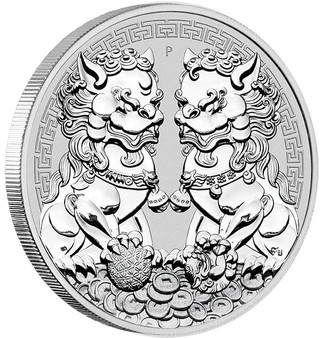 GUARDIAN LION - DOUBLE PIXIU 1 oz Silver Coin BU 2020 Australia