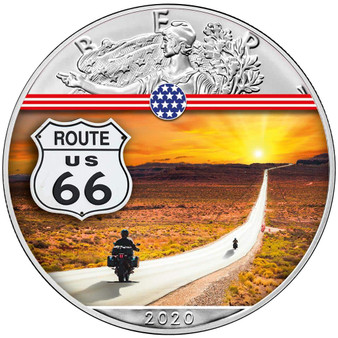 ROUTE 66 Landmarks USA 1 oz Silver Coin 2020 USA