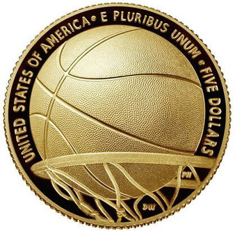 Basketball Hall of Fame Proof $5 Gold Coin USA 2020