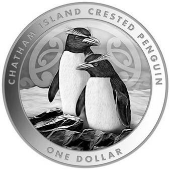 CRESTED PENGUIN 1 oz Silver Coin 2020 New Zealand