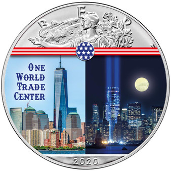 ONE WORLD TRADE CENTER Landmarks USA 1 oz Silver Coin 2020 USA