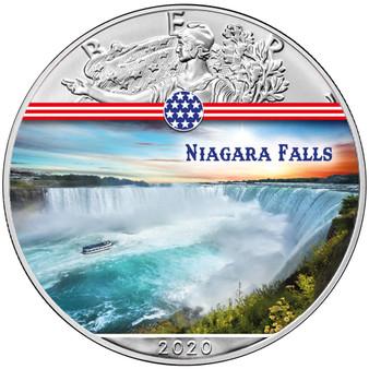 NIAGARA FALLS Landmarks USA 1 oz Silver Coin 2020 USA