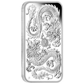DRAGON 1oz Silver Proof Rectangle Coin Australia 2020 OGP