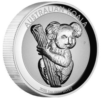 KOALA 1 oz Incused High Relief Silver Coin Australia 2020 OGP