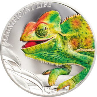 CHAMELEON Magnificent Life 1 oz Silver Coin $5 Cook Islands 2020