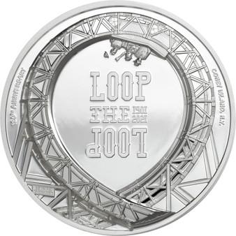 LOOP THE LOOP Roller Coaster 1 Oz Silver Coin 5$ Cook Islands 2021