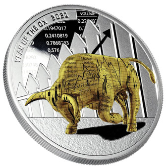 TIME TO WIN Year of the Ox 1 oz Silver Proof Coin Cameroon 2021