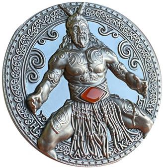 HAKA World Cultures 2 oz Silver Coin w/ Carnelian insert Cameroon 2020