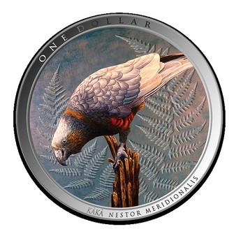 KAKA Forest Bird 1 oz Silver Proof Coin New Zealand 2021