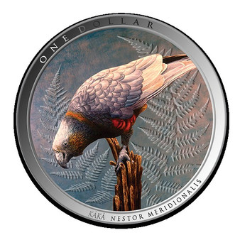 KAKA Forest Bird 1 oz Silver Proof Coin New Zealand 2021