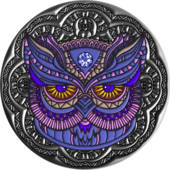 OWL Mandala Collection 2 oz Silver Coin $5 Niue 2020