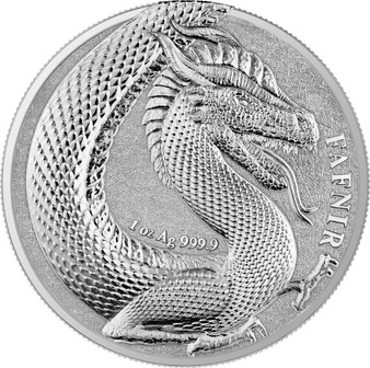 FAFNIR GEMINUS - GERMANIA BEASTS -2020 5 Mark 1 oz Silver Round