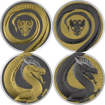 FAFNIR GEMINUS - GERMANIA BEASTS -2020 5 Mark 2 x 1 oz Silver Round
