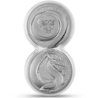 FAFNIR GERMANIA BEASTS -2020 5 Mark 2x 1 oz Silver BU set