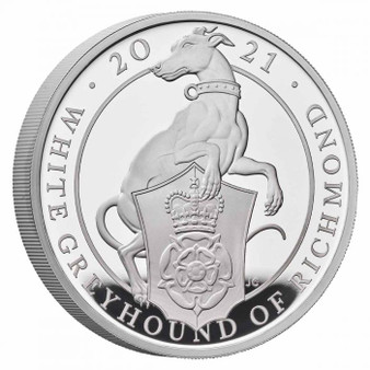 GREYHOUND of Richmond Queen's Beast Silver Proof Coin UK 2021