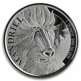 MANDRILL 1 oz Silver Coin Sealed 2020 Cameroon