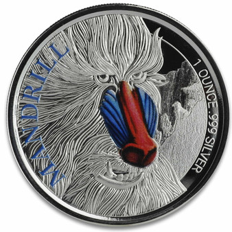 MANDRILL 1 oz Silver Color Proof Coin 2020 Cameroon