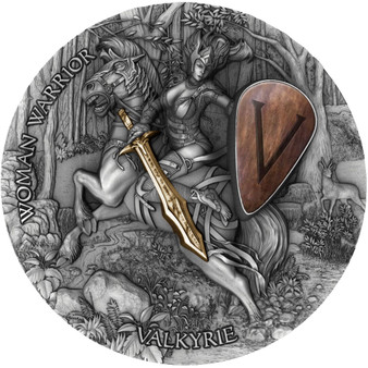 VALKYRIE - Woman Warrior Ultra High Relief 2 oz $5 Niue 2020