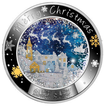 MERRY CHRISTMAS Silver Coin Proof Niue 2020