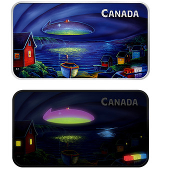 Clarenville UFO Incident Glow-In-The-Dark 1oz Proof Silver Coin $20 2020 CA