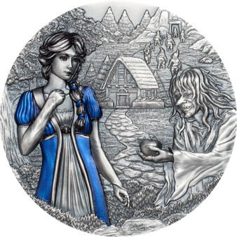 SNOW WHITE 3 Oz Silver High Relief Coin $20 Cook Islands 2020