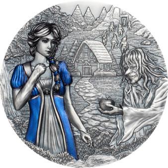 SNOW WHITE 3 Oz Silver High Relief Coin $20 Cook Islands 2020