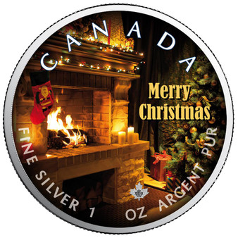 MERRY CHRISTMAS Maple Leaf 1 oz Silver Coin Canada 2020