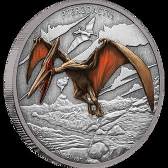 PTERODACTYL  Dinosaur 1 oz Silver Proof Coin Niue 2020