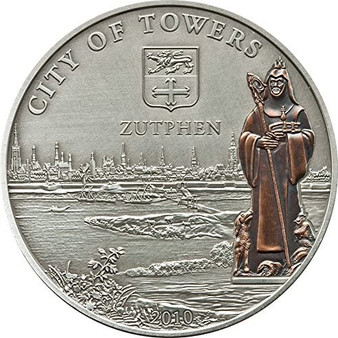 ZUTPHEN HANSEATIC LEAGUE Hansa $5 Cook Island Silver Coin 2010