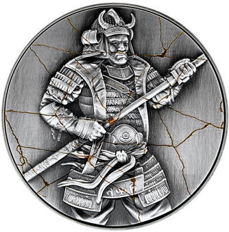 YASUKE Samurai 2 oz Silver High Relief Coin 10000 Francs Chad 2021